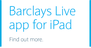 Barclays Live app for iPad